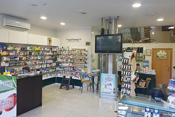 interior da loja Necterra em Viseu